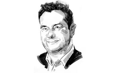 A black and white illlustration, in broad brush strokes, of Account Manager Ben Upjohn