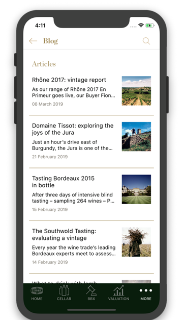 Read our blog with the Berry Bros. & Rudd Cellar management app