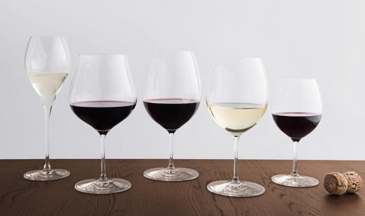 Wine selection of wine glasses from the Merchants range of glassware avaialable at Berry Bros. & Rudd.
