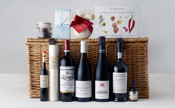 Christmas hamper selection from Berry Bros. & Rudd.