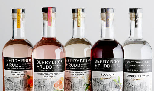 Our Own Selection gin - Discover our range of flavoured and London Dry gins