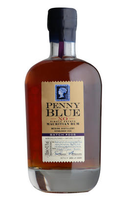 Penny Blue, XO Single Estate, Mauritian Rum, Batch No 005, 43.1%