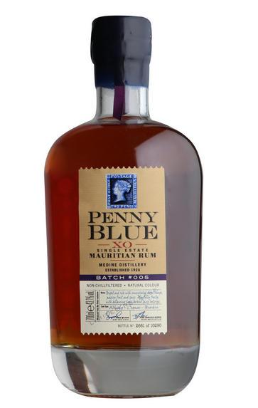 Penny Blue, XO Single Estate, Mauritian Rum, Batch No 005, 43.1%