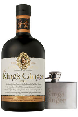 The King's Ginger & Mini Hip Flask Gift Box