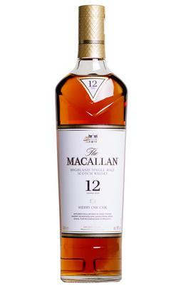 The Macallan, 12-Year-Old, Sherry Oak Cask, Single Malt Scotch Whisky, Speyside (40%)