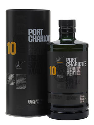 Port Charlotte, 10-year-old, Heavily Peated, Malt Whisky, 50.0%