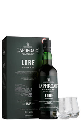 Laphroaig Lore & 2 Glasses, Gift Pack