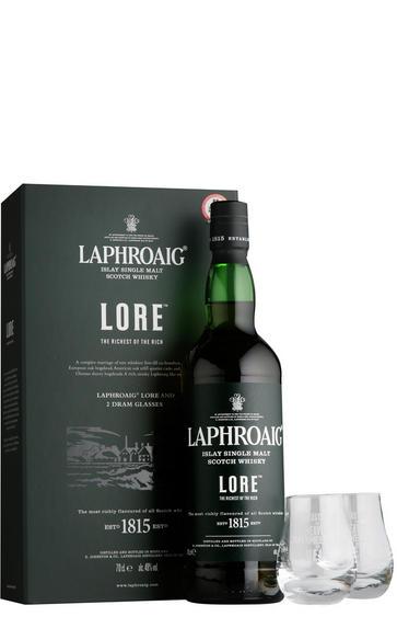 Laphroaig Lore & 2 Glasses, Gift Pack