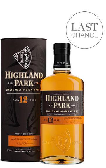 Highland Park 12 Year Old, Orkney, Single Malt Scotch Whisky, 40%