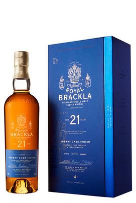 Royal Brackla, Oloroso, Palo Cortado & Pedro Ximénez Sherry Cask Finish, 21-Year-Old, Highland, Single Malt Scotch Whisky (46%)