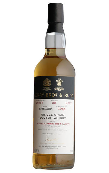 1988 Berrys' Invergordon, Cask No 26967, Single Grain Scotch Whisky, 46.0%