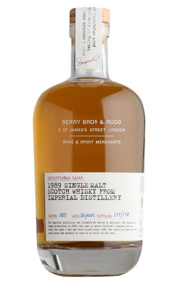 1989 Berry Bros. & Rudd Imperial, Cask Ref. 183, Single Malt Scotch Whisky (47.9%)