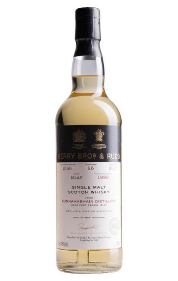 1990 Berry Bros. & Rudd 26-year-old Bunnahabhain, Cask Ref. 1536, Bottled 2017, Islay, Single Malt Scotch Whisky (47.8%)