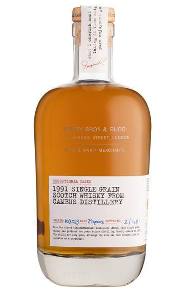 1991 Berry Bros. & Rudd Exceptional Casks, Cask Ref. 103023, Cambus, Single Grain Whisky, Lowlands (49.9%)