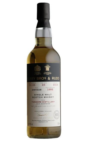 1992 Berrys' Tormore, Cask No. 101158, Single Malt Scotch Whisky, (44.5%)