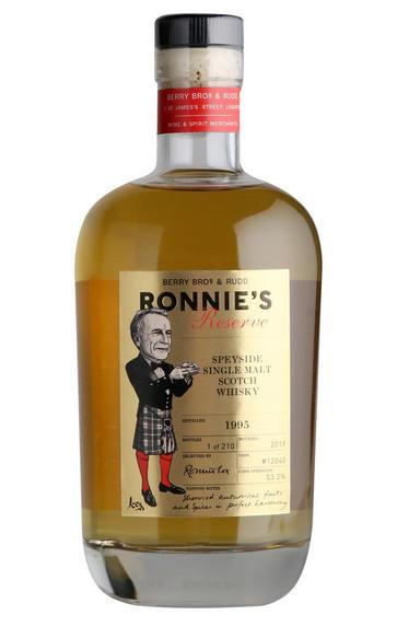 1995 Ronnie's Reserve, Cask Ref 12040, Speyside, Single Malt Scotch Whisky, 53.2%
