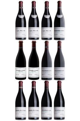 1996 Romanée-Conti Assortment Case, DRC (1RC, 3T, 3RSV, 2R, 1GE, 2E)