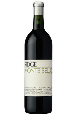 2012 Ridge Vineyards, Monte Bello, Santa Cruz Mountains, California, USA