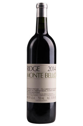 2014 Ridge Vineyards, Monte Bello, Santa Cruz Mountains, California, USA
