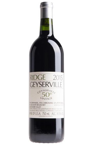 2015 Ridge Vineyards, Geyserville, Sonoma County, California, USA