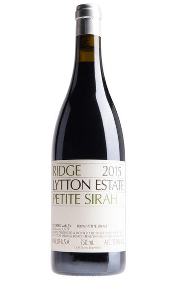 2015 Ridge Vineyards, Lytton Estate Petite Sirah, Dry Creek Valley, California, USA