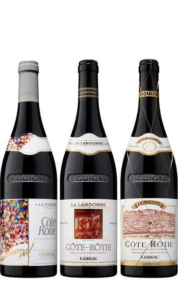 2015 Côte-Rôtie Trilogie, E. Guigal, Rhône, Three-bottle Assortment Case