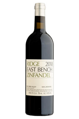 2018 Ridge Vineyards, East Bench Zinfandel, Dry Creek Valley, Sonoma County, California, USA