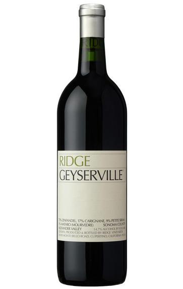 2018 Ridge Vineyards, Geyserville, Alexander Valley, Sonoma County, California, USA