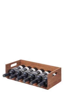 European Oak Wine Rack
