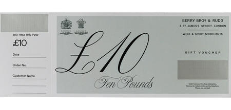 £10 Berry Bros. & Rudd Gift Voucher