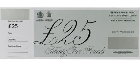 £25 Berry Bros. & Rudd Gift Voucher