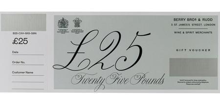 £25 Berry Bros. & Rudd Gift Voucher