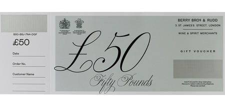 £50 Berry Bros. & Rudd Gift Voucher