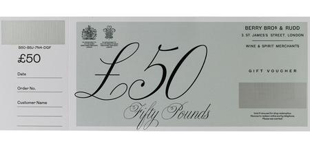 £50 Berry Bros. & Rudd Gift Voucher