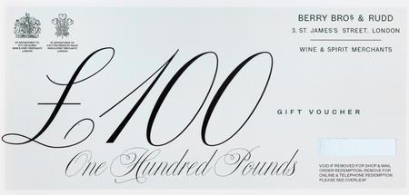 £100 Berry Bros. & Rudd Gift Voucher